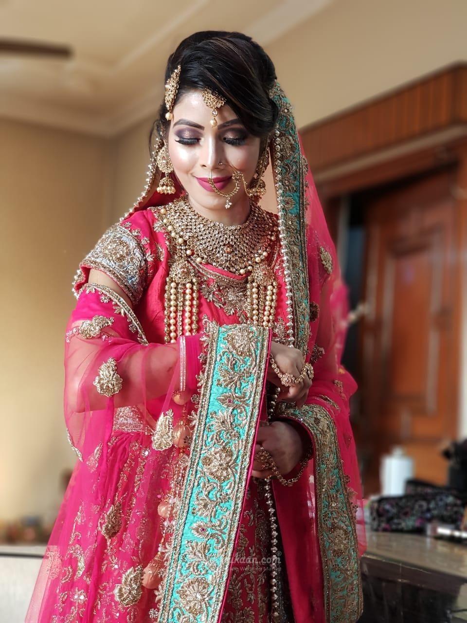 Bridal makeup of Punjabi bride... punjabibride