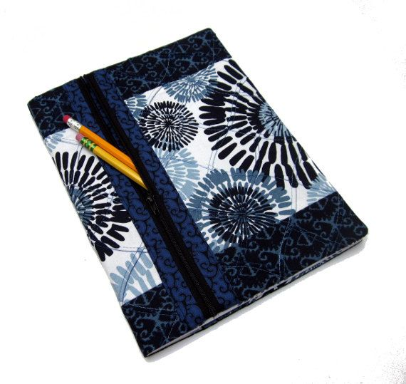 Refillable Fabric Journal Cover / Blank Book Lined by dailythreads, $38.00