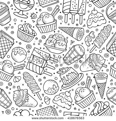 Cacao Drawing Google Search Doodle Illustration Cool Doodles Seamless Patterns