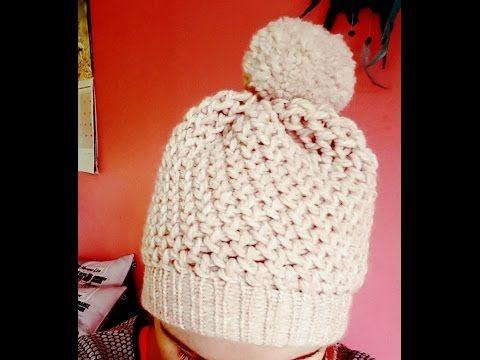 Très Tuto tricotin : le bonnet point mousse et bord côtes - YouTube  QI96