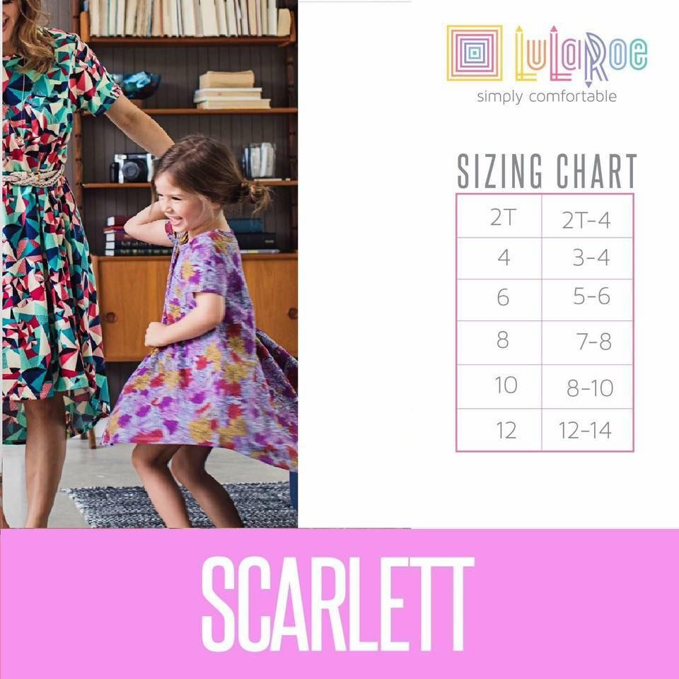 13abe51fe LuLaRoe Scarlett Sizing Chart for the perfect fit! | My Style ...