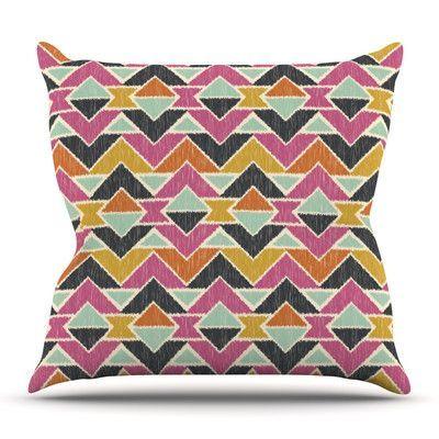 KESS InHouse Sequoyah Arrows by Amanda Lane Outdoor Throw Pillow