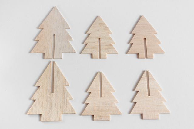 mini balsa wood christmas tree tutorial
