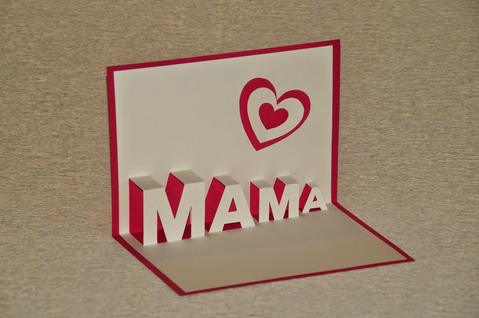 Pop Up Karte basteln zum Muttertag mit Vorlage | basteln mit Papier ...