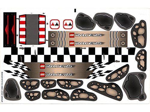 "Lego® Racers Set #8364 ""Multi Challenge Race Track"" Sticker Sheet # 2"