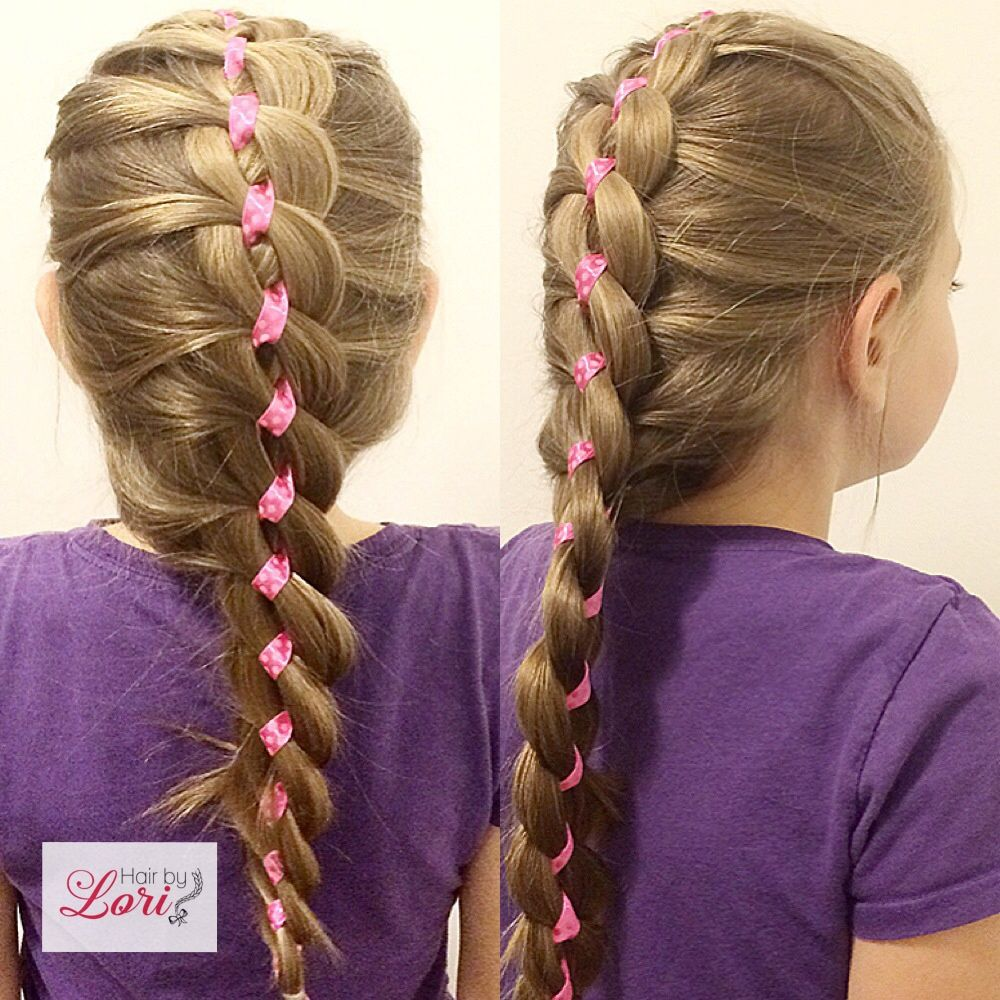 4 Strand Ribbon Braid | Hair By Lori | Pinterest | Ribbon ...