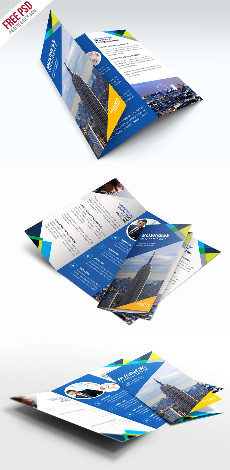Free Business TriFold Brochure PSD Template | Brochure ...