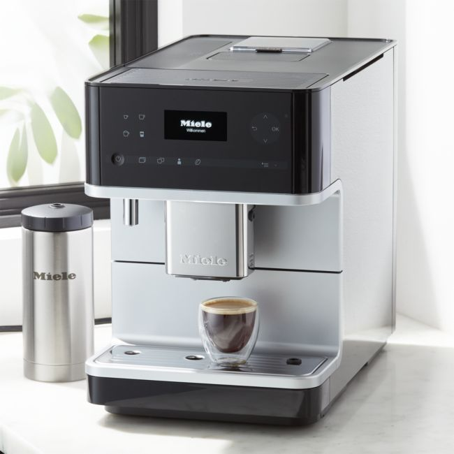 Miele Cm6350 Black Countertop Coffee Machine Crate And Barrel In