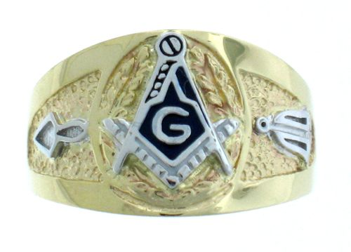 10k White Or Yellow Gold Solid Gold Low Profile Masonic Ring Masonic Ring Solid Gold Masonic