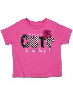 """Cute"" Toddler & Girls Hot Pink Kerusso T-Shirt – Sharing Our Faith"