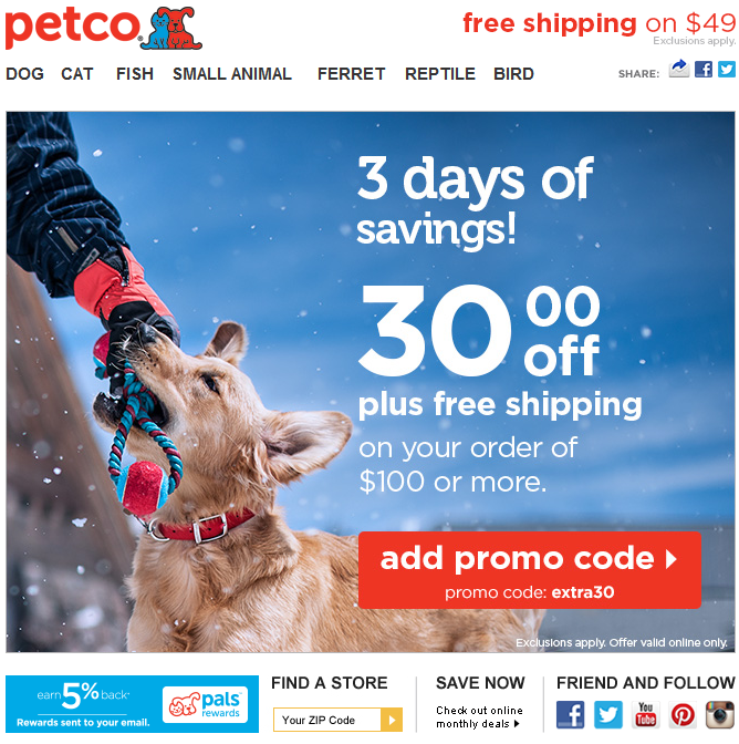 Hosted Email Dog Lovers Petco Small Pets