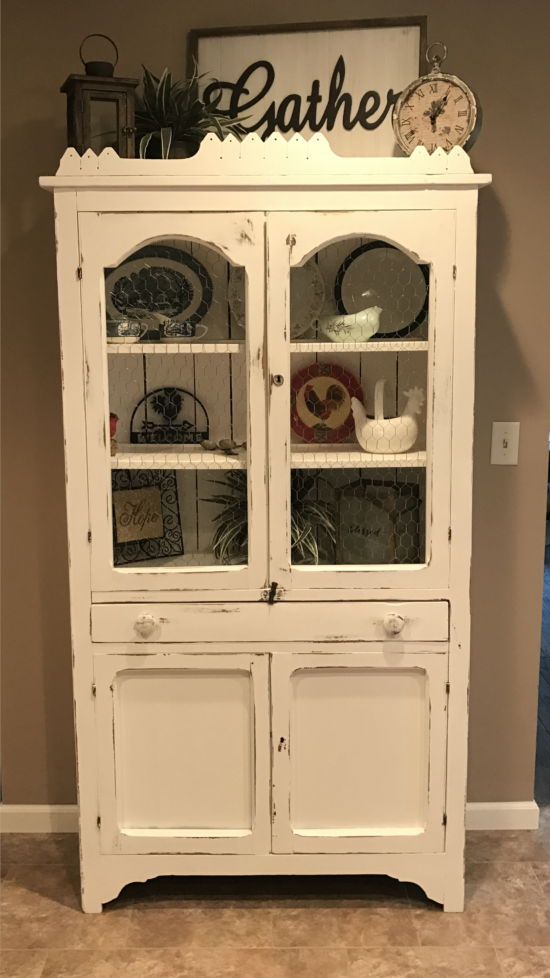 Repurposed kitchen hutch our new home pinterest repurposed