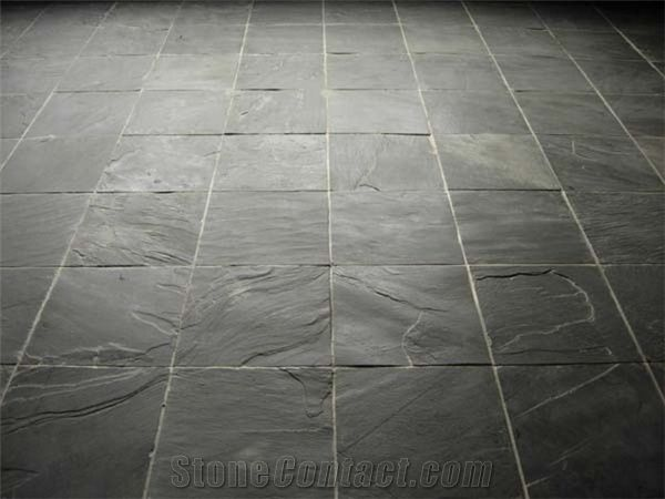 black slate floor tiles. Flooring Rough Slate Tiles, Riven Black Tiles From China Supplier - Stonecontact.Com Floor