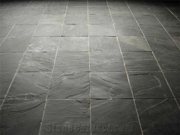 Flooring Rough Slate Tiles, Riven Black Slate Tiles from ...