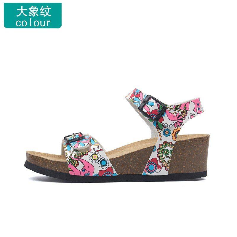Ucuz Orta Topuklu Cin Den Tedarikcilerden Dogrudan Satin Al 16 Stil Moda Kadin Sandalet Flats Mantar Terlik Rahat Ayakkabilar B Flip Flop Sandalet Topuklular