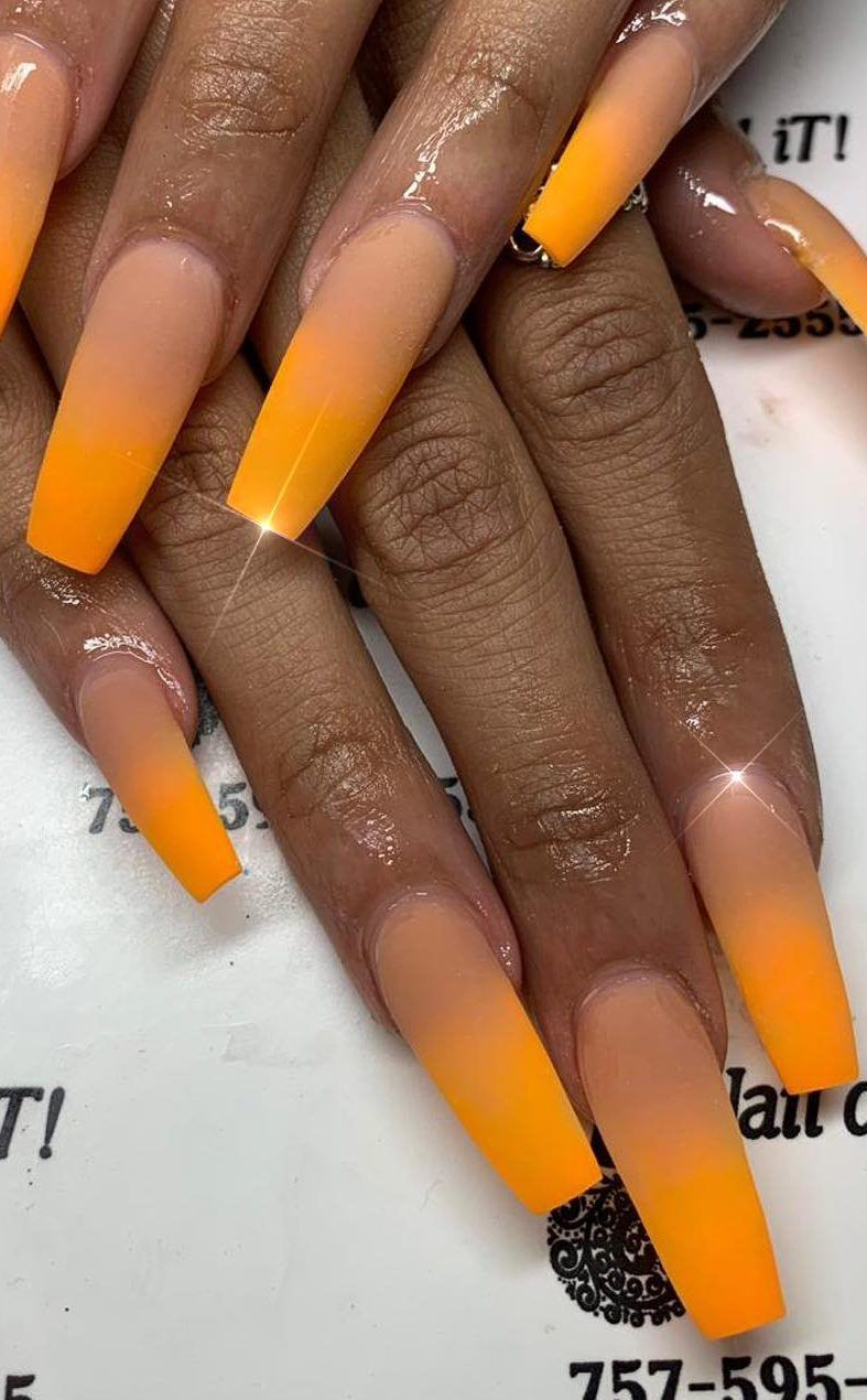 53 Cute And Amazing Ombre Nails Design Ideas For Summer Part 24 Ombre Nail Designs Acrylic Nail Designs Coffin Long Acrylic Nails
