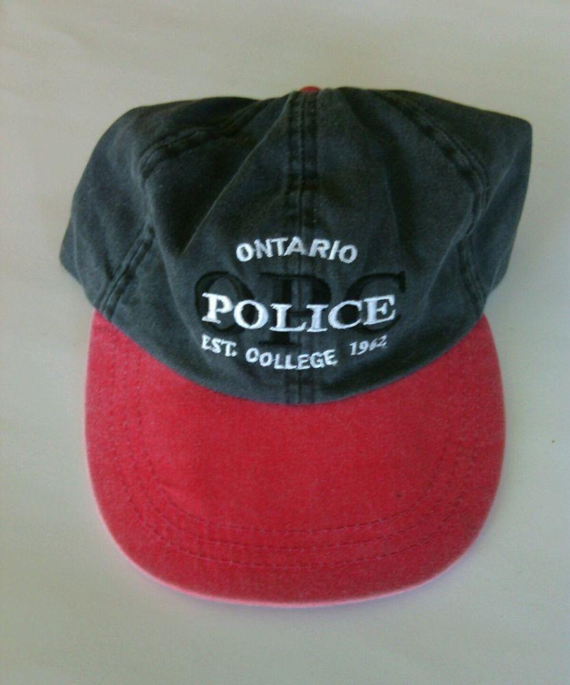 2feaaf1f76b Ontario Canada Police College Men s Black Red Baseball Cap Adjustable Hat  Cotton