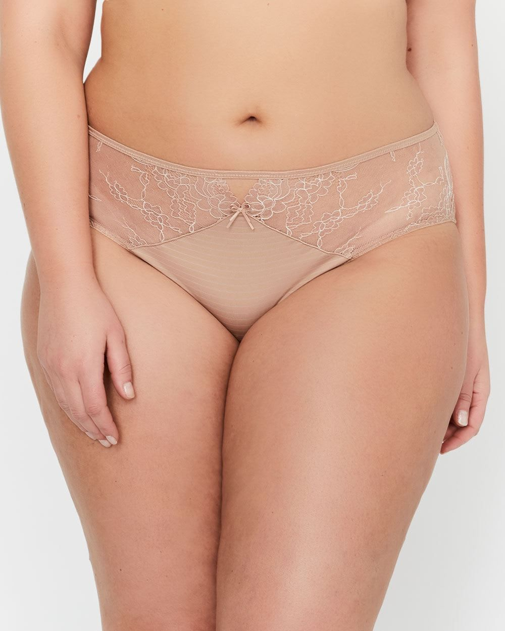70463931bd063 Ashley Graham Essentials High Cut Jersey and Lace Panty
