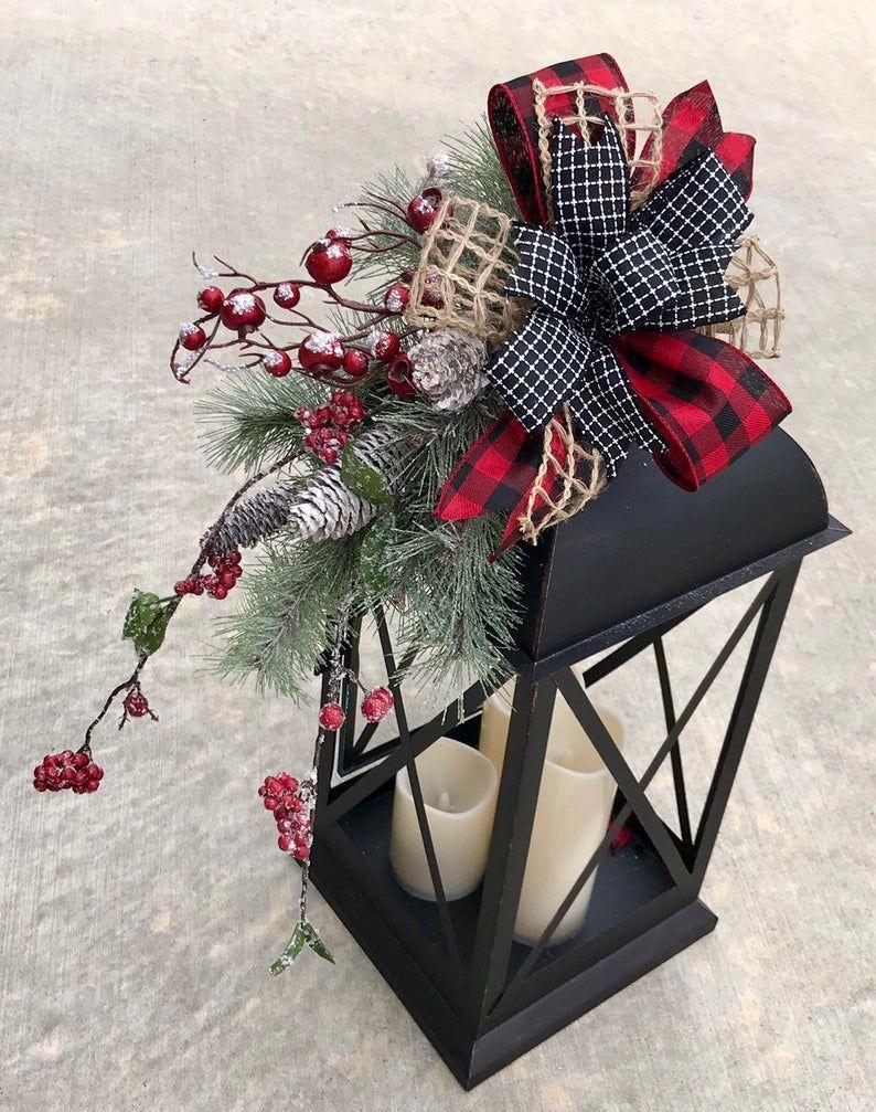 Photo of #Laternen dekorieren landhaus Large christmas lantern swag, winter lantern swag,…