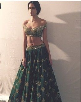 c3633fd06bc1b Off Shoulder Blouse Lehenga