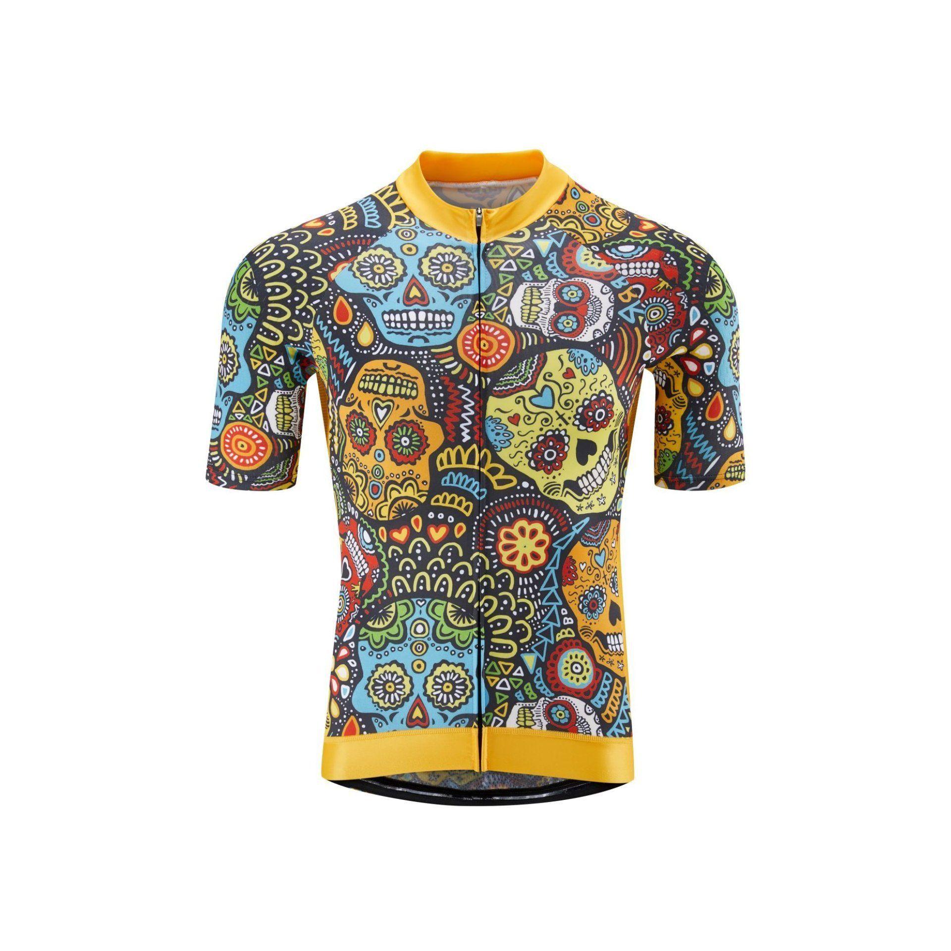 Mexican Candy Skull Jersey by Lusy Koror Cykelkläder