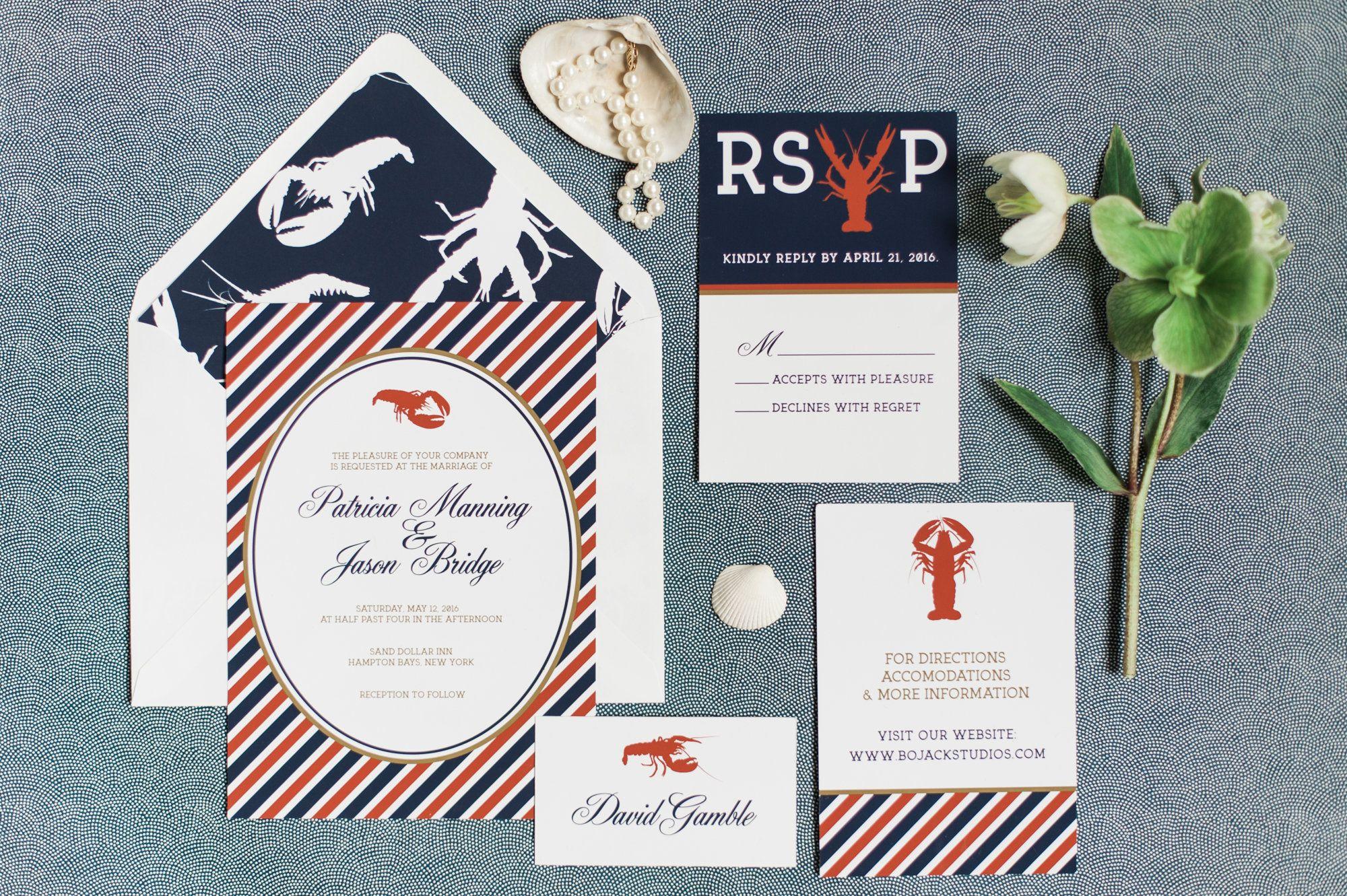 Lobster Bake Wedding Invitations