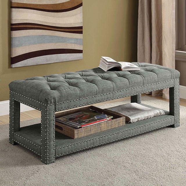 Einar By Furniture Of America Cm Bn6058lg S Accent Bench Upholstered Storage Bench Upholstered Storage Furniture