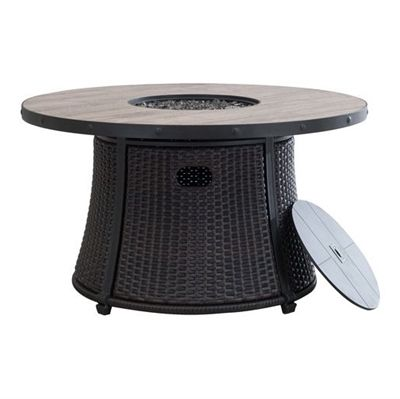 Delicieux Shop Allen + Roth W Brown Tabletop Composite Liquid Propane Fire Table At  Loweu0027s Canada. Find Our Selection Of Fire Pits At The Lowest Price  Guaranteed With ...