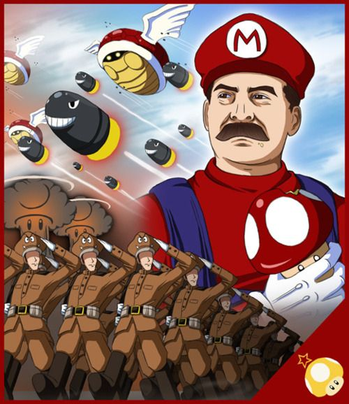 Strange And Awesome Fan-Art Is On// this is really cool. Kinda makes u think. He looks like Stalin. Interesting concept
