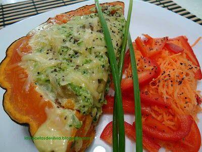 Las recetas de Silvia: Zapallo criollo relleno con hongos y queso