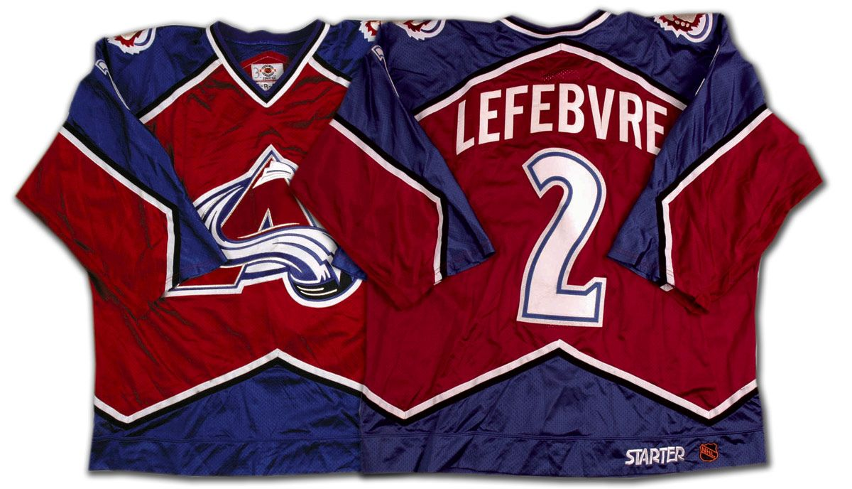 the best attitude 957c8 619ea Sylvain Lefebvre 1997-98 Colorado Avalanche Game Worn Jersey ...