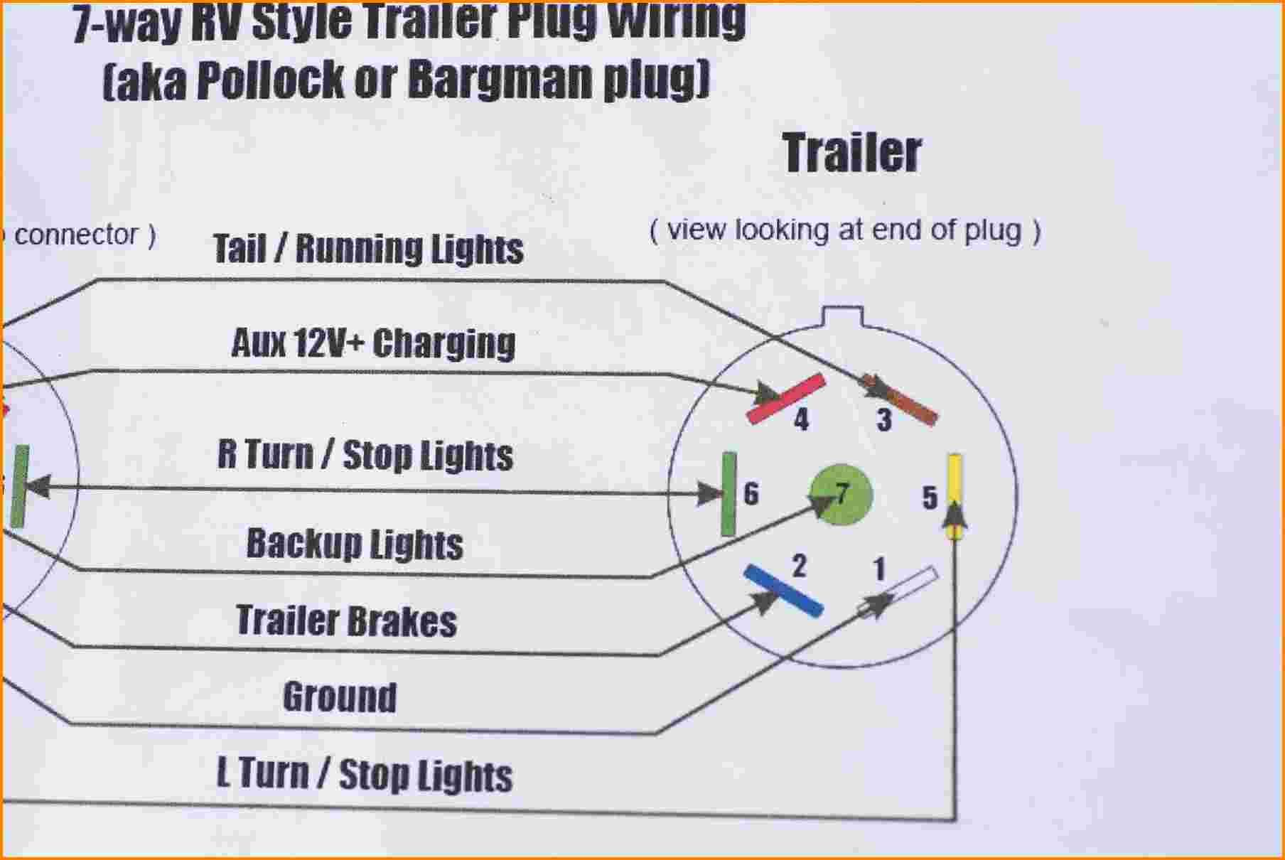 7 wire trailer plug wiring diagram connector
