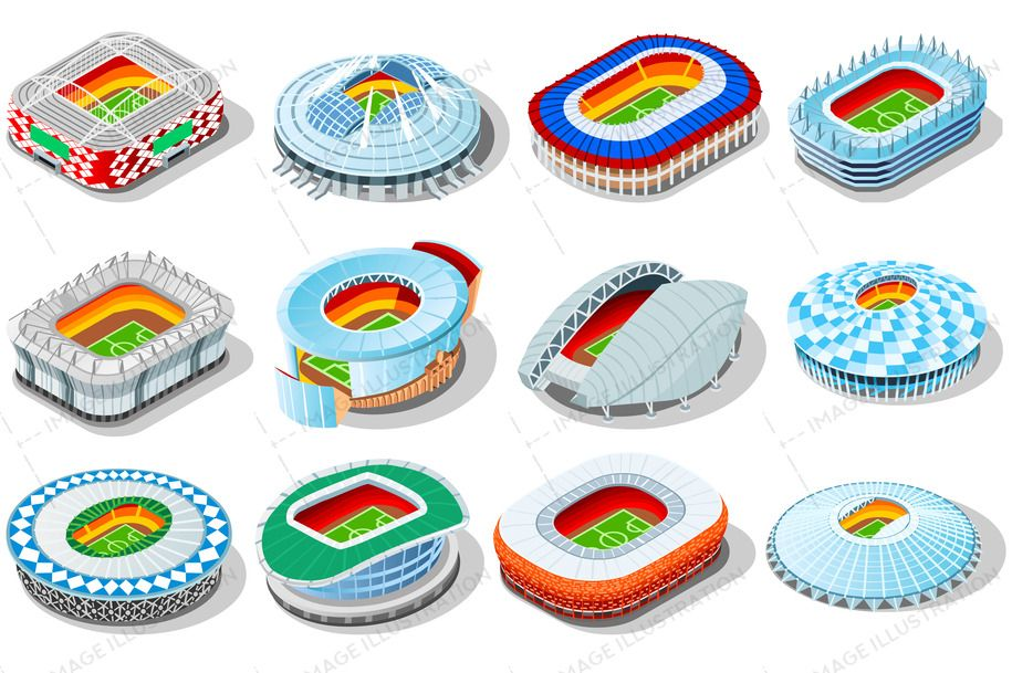 Russia World Cup Stadiums Image Illustration Russia World Cup Stadium World Cup Stadiums