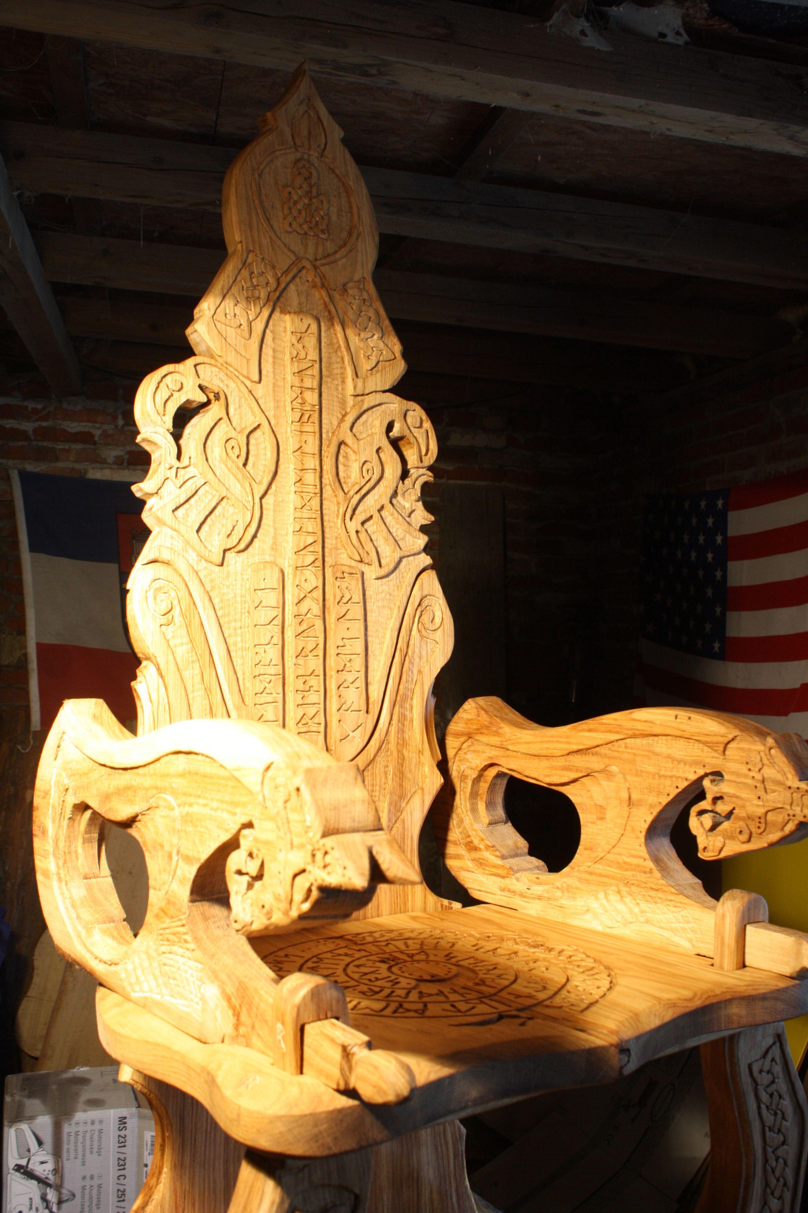 Thron Von Mir Viking Carving Wikinger Schnitzerei Und Mobel