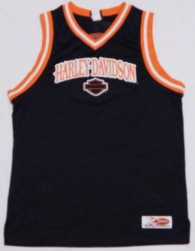 acb9122287d Men-039-s-HARLEY-DAVIDSON-Basketball-Jersey-Shirt-MEDIUM -Black-SEWN-Motorcycle-Biker
