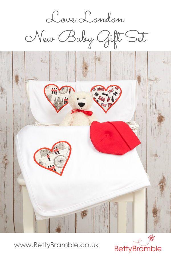 Love london baby gift set baby blanket london baby blanket london baby applique baby gift personalised negle Gallery