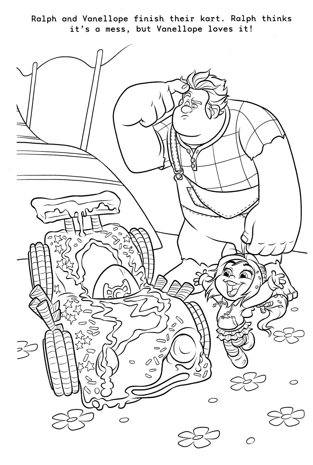 """WreckIt Ralph"" coloring page."