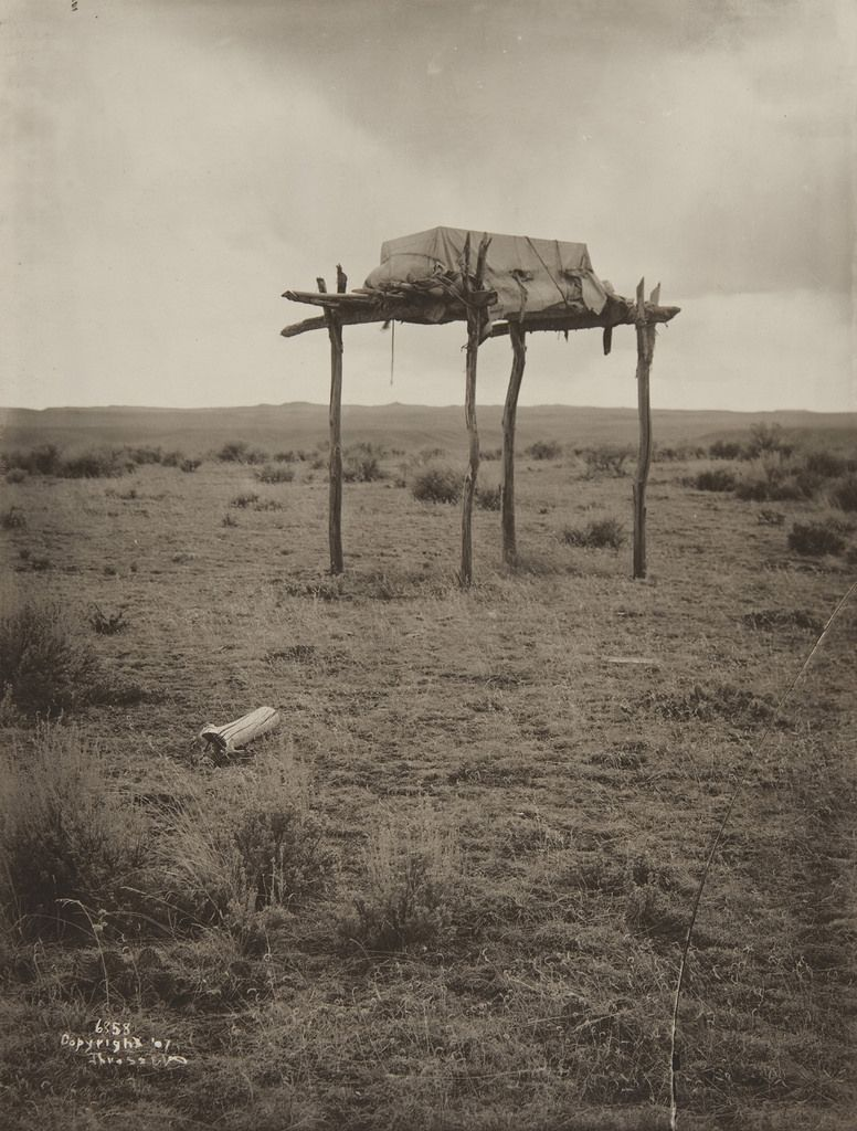 Native American burial site (1910) -- by Museum of Photographic Arts Collections