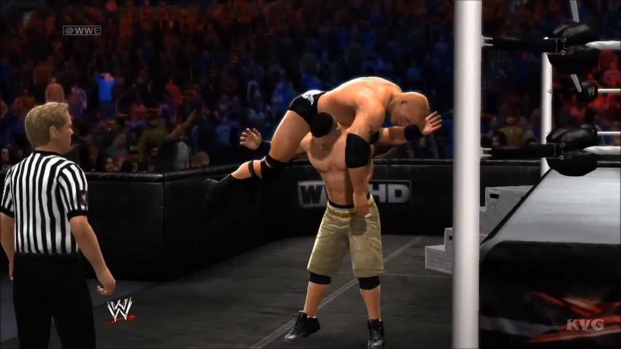 wwe 2k14 - john cena vs the rock gameplay [hd] | (1)voodoo park