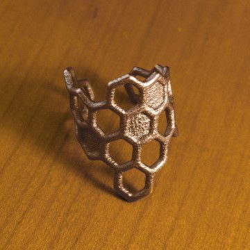 Honeycomb Ring Antique-Bronze