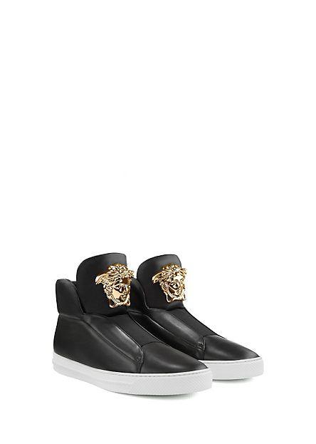 Versace studded belt sneakers - Negro farfetch el-negro Cuero  40 EU amazon-shoes el-negro Zapatillas bajas 8goLe54mkV