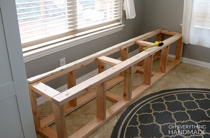 How To Build A Kitchen Nook Bench Oh Everything Handmade Building A Kitchen Bench Seating Kitchen Kitchen Corner Bench