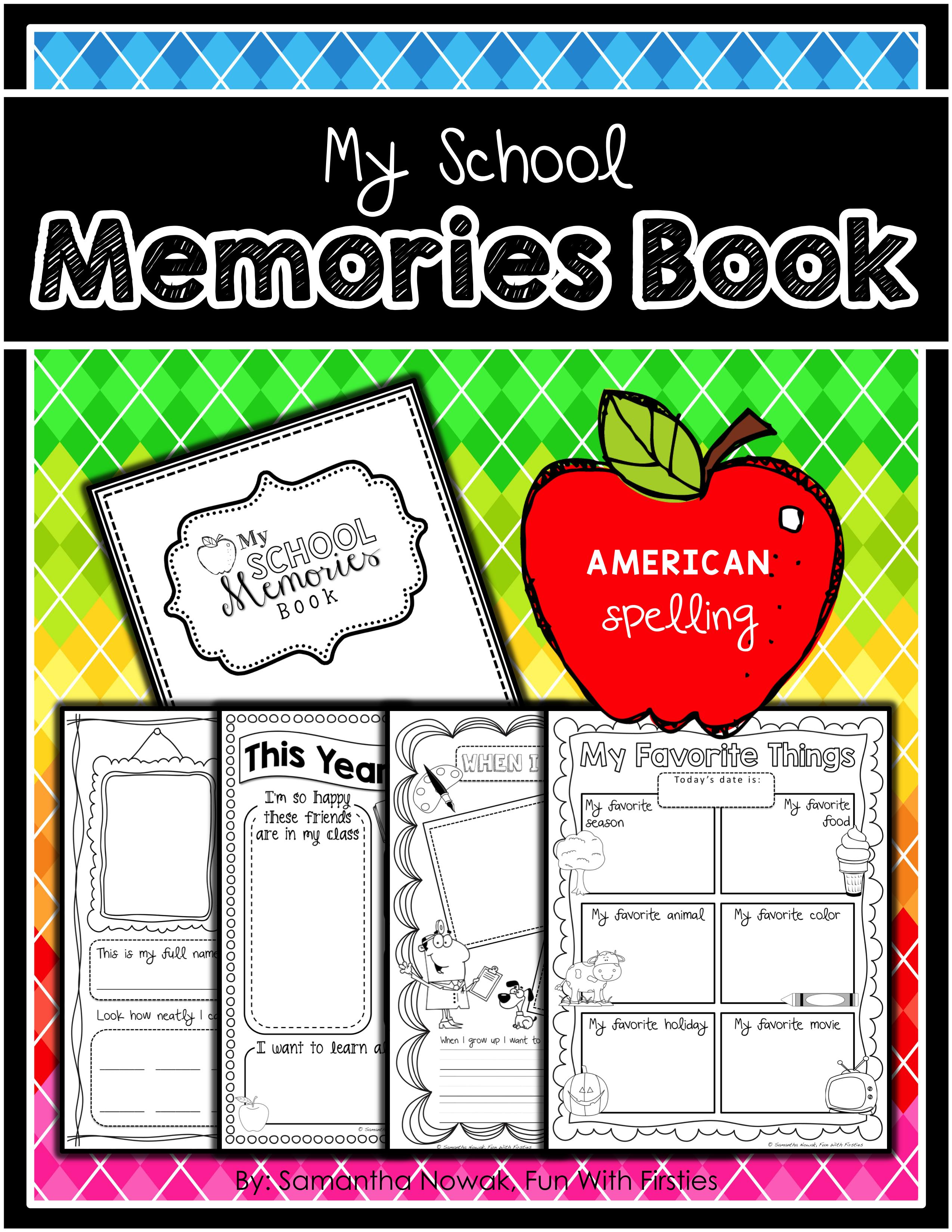 My School Memory Book Documenting School Memories And