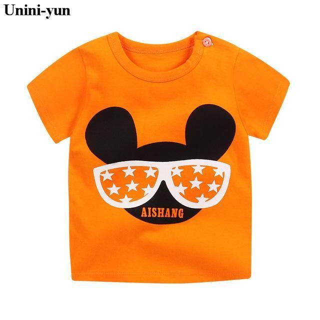 cc6837515e American Flag Children T-shirt boys t shirt Tees Short sleeve shirts Summer  Kids Tops Cartoon Baby Boy Clothing Cotton Girls