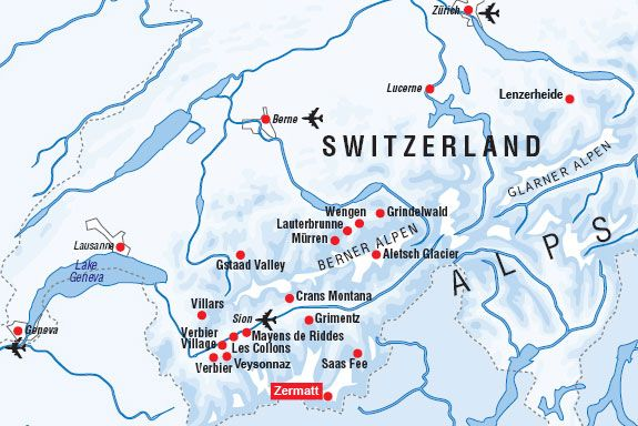 switzerland zermatt Map Places Ive seen Switzerland