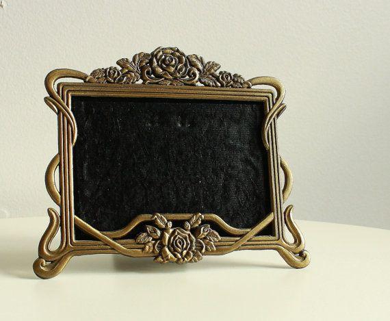 Antique Victorian Frame. Solid Metal Picture Frame. by KLizVintage ...