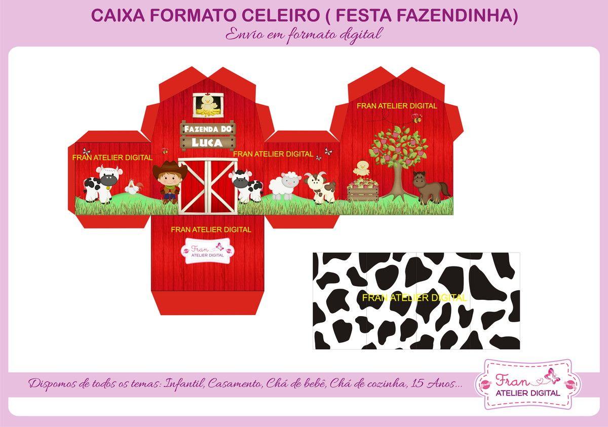 Super Festa Fazendinha Menino - Caixa Celeiro | Resoluções, Arte digital  TX93