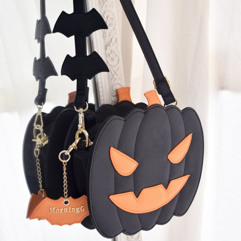 Deluxe Pumpkin Witch Handbag Pouch Purse Costume Accessory