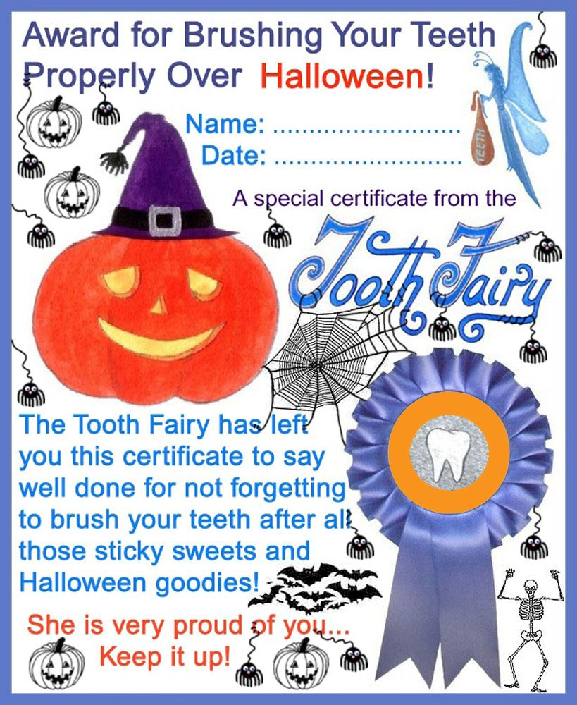 Free Customizable Pdf Certificate From The Tooth Fairy For