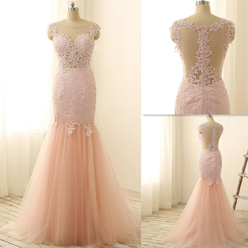 Charming Prom Dress,Mermaid Prom Dresses,Appliques Tulle Prom ...